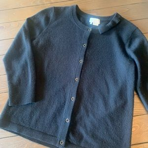 Kate Spade wool/cashmere black cardigan